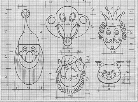 Как сделать маску к Новому году. Гном, инопланетянин, король, пират, поросенок - такие маски вы можете сделать для веселого ново