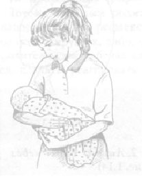 Классическое положение держать ребенка на руках