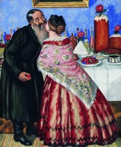 Пасхальный обряд (Христосование). 1916 - астраханский художник Кустодиев Б.М.