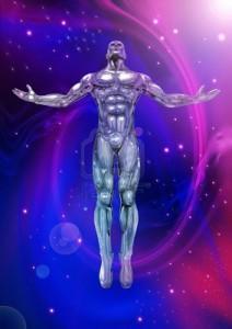 мужчина на фоне космоса